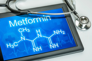 Tablet with the chemical formula of metformin